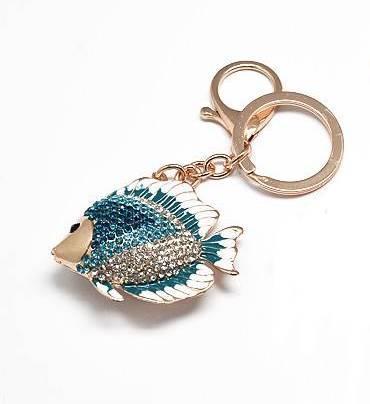 Rhinestone crystal gold angelfish koi fish keychain for Koi fish purse