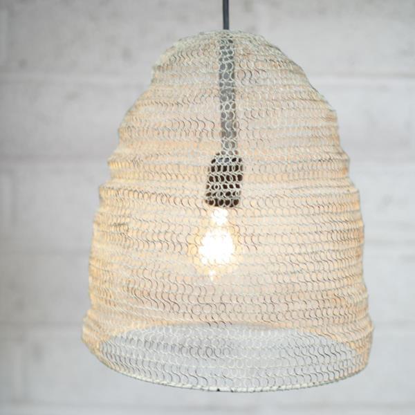 metal wire mesh pendant light lamp shade oval industrial loft. Black Bedroom Furniture Sets. Home Design Ideas