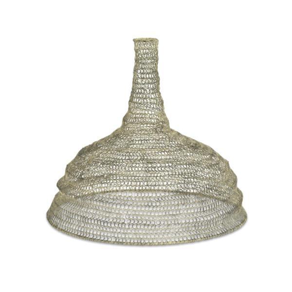details about metal wire mesh pendant lamp light shade conical vintage. Black Bedroom Furniture Sets. Home Design Ideas