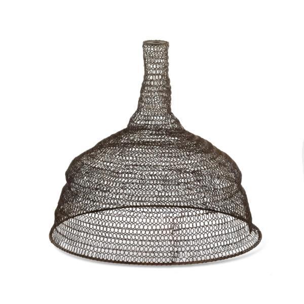 metal wire mesh pendant lamp light shade conical vintage industrial. Black Bedroom Furniture Sets. Home Design Ideas
