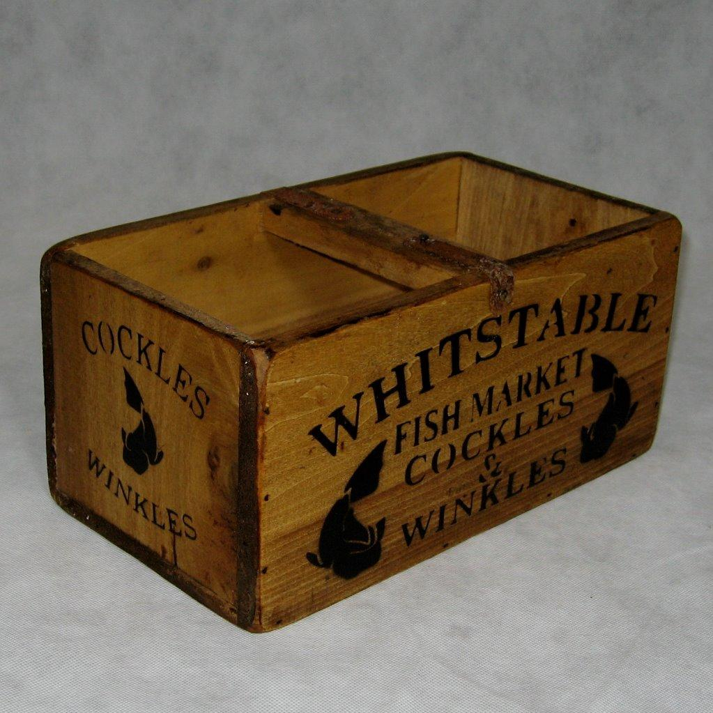 Rustic wooden boxes crates trugs handmade kitchen storage for Old wooden crates