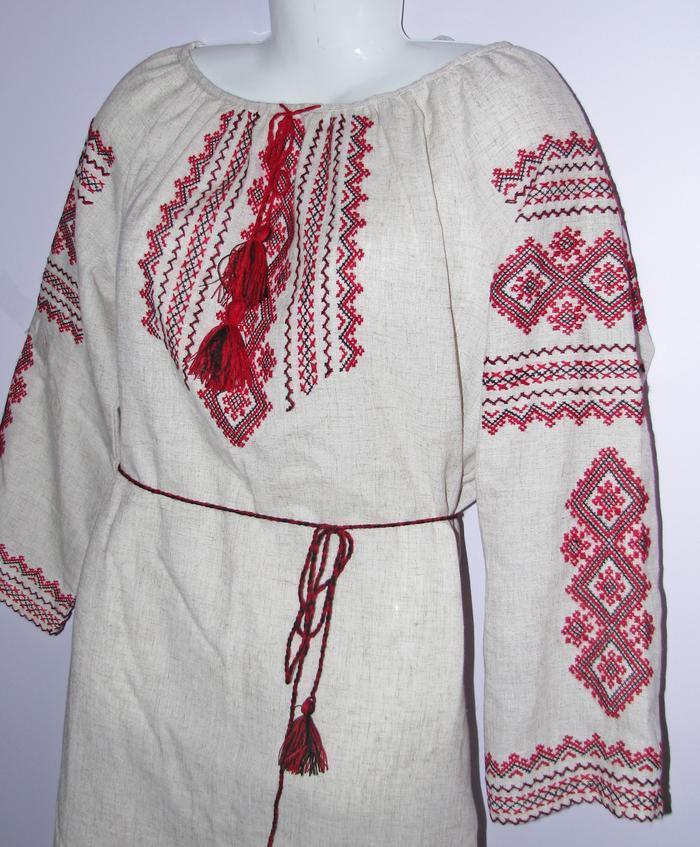 Ukrainian hand embroidered women shirt blouse dress