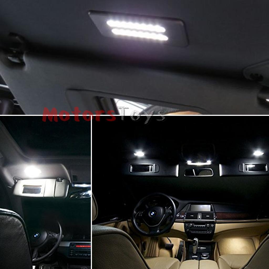 Xenon Lights For Bathroom Vanity : Xenon White Error Free LED Vanity Mirror Lights For BMW 3 5 Series X1 X3 X5 X6 eBay