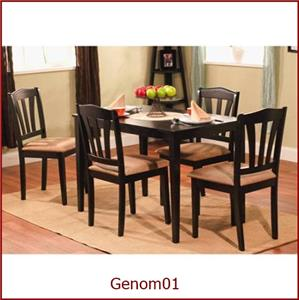 kitchen table 5 piece dining room set upholstered chairs wood modern