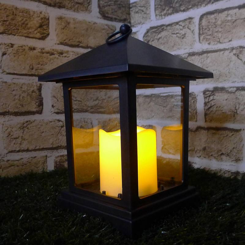 Flameless Candle Xmas Pillar Outdoor LED Light Lantern