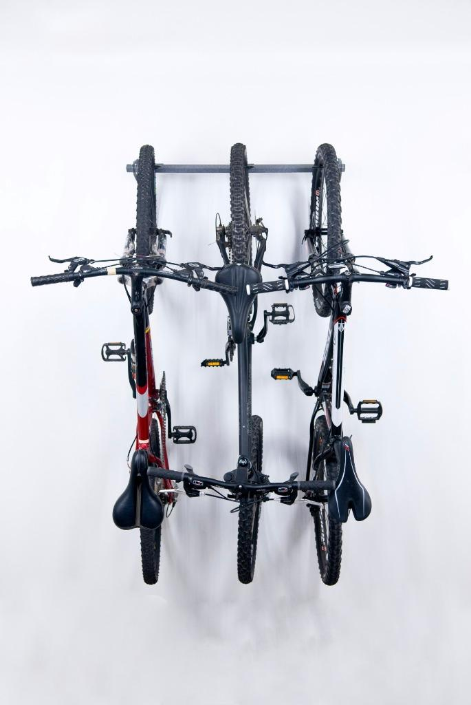 overhead garage wall mounted organizer stand ceiling bike. Black Bedroom Furniture Sets. Home Design Ideas