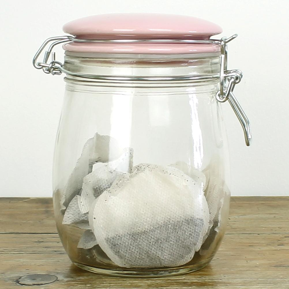 coffee tea sugar jars glass airtight containers canisters