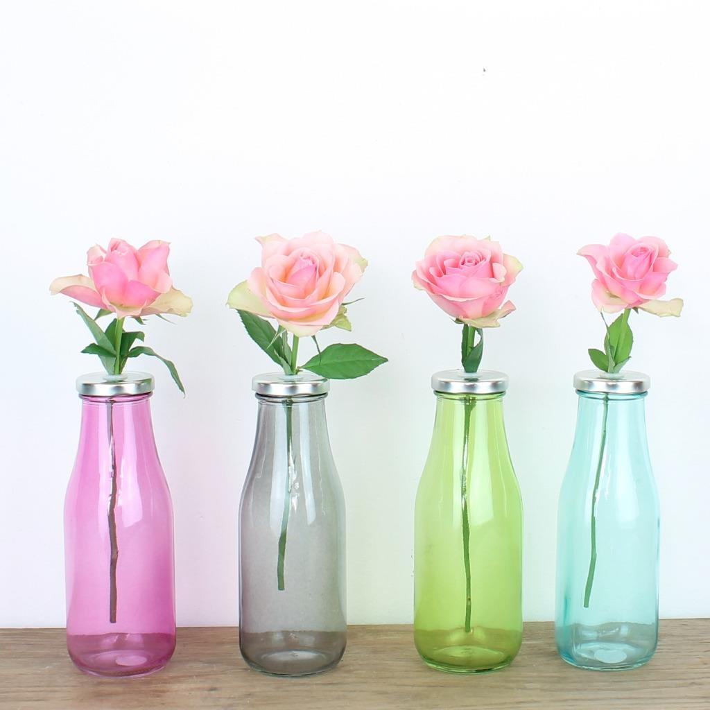 Retro flower vase shabby chic wedding rustic set glass pink blue retro flower vase shabby chic wedding rustic set mightylinksfo