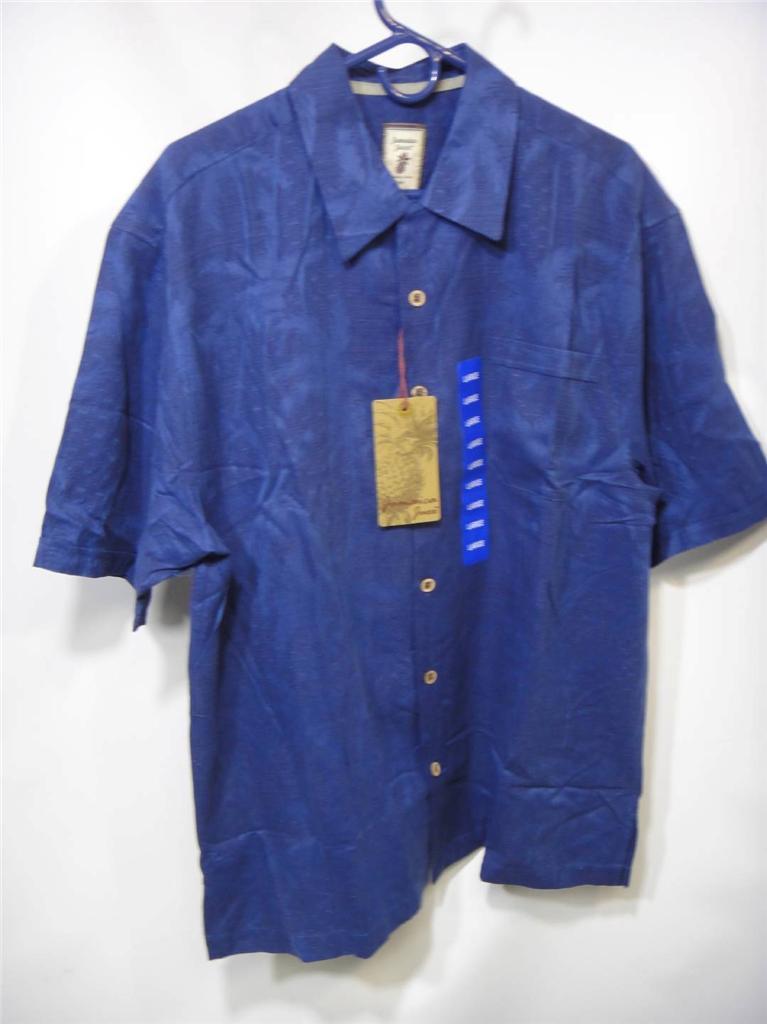 New men 39 s jamaica jaxx 100 silk hawaiian button down for Men s batik bay silk blend button down shirt