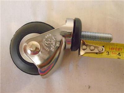 "2"" x 1"" Threaded Stem Caster w Neoprene Wheel Darcor 125 lbs"