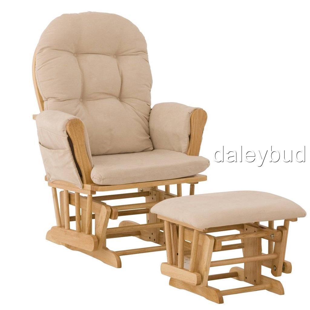 stork craft hoop glider ottoman set beige baby rocking