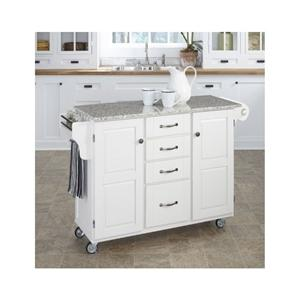 Kitchen island cart rolling utility granite top storage table cabinet white ebay Kitchen utility island