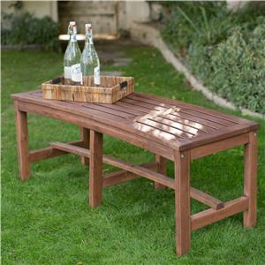 Outdoor Backless Curved Fire Pit Bench Around Firepit Or