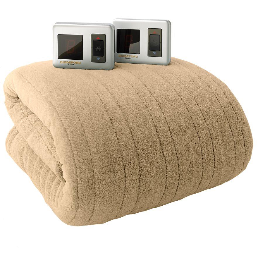 Biddeford Microplush Heated Blanket