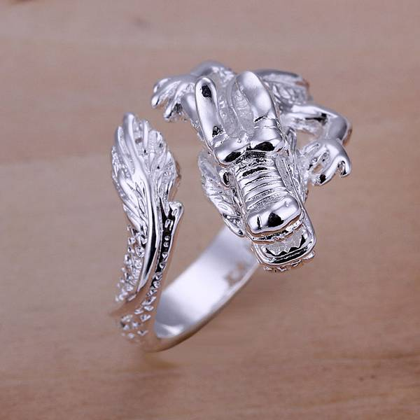 Wholesale Women's/Men's Fashion jewelry 925 Sterling Silver Filled Ring Size 8