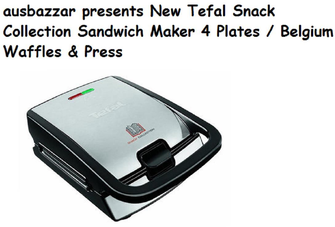 new tefal snack collection sandwich maker 4 plates belgium waffles press ebay. Black Bedroom Furniture Sets. Home Design Ideas