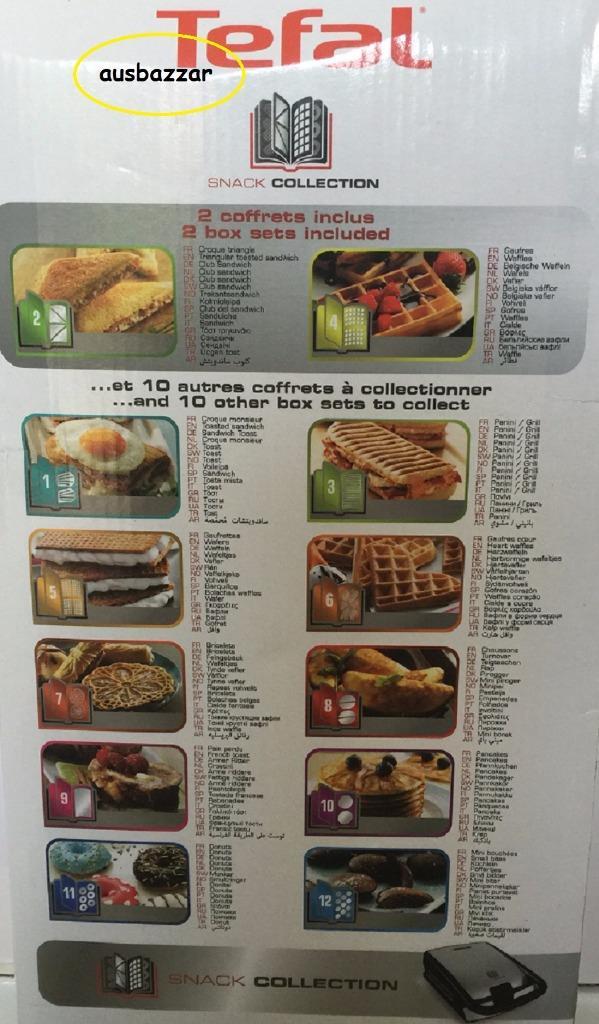 new tefal snack collection sandwich maker 4 plates. Black Bedroom Furniture Sets. Home Design Ideas