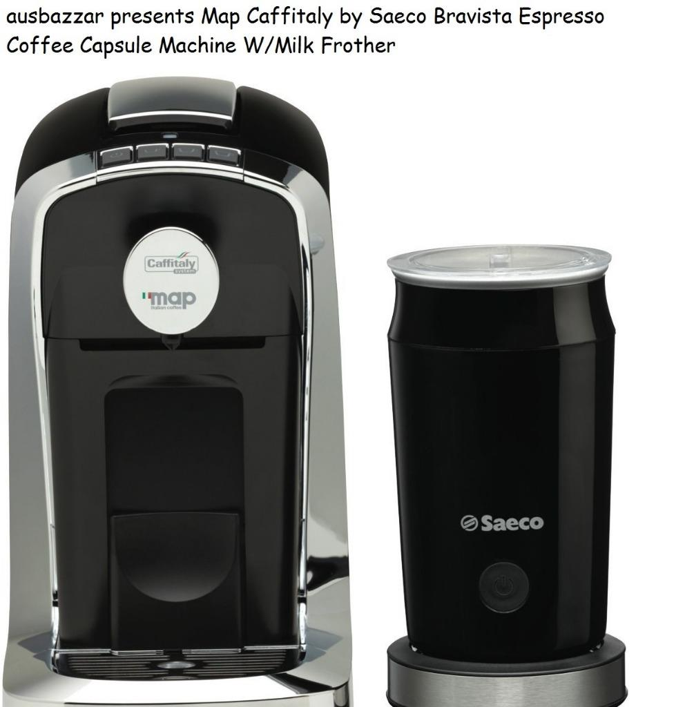 Map Italian Coffee Maker : Map Caffitaly by Saeco Bravista Espresso Coffee Capsule Machine W/Milk Frother eBay