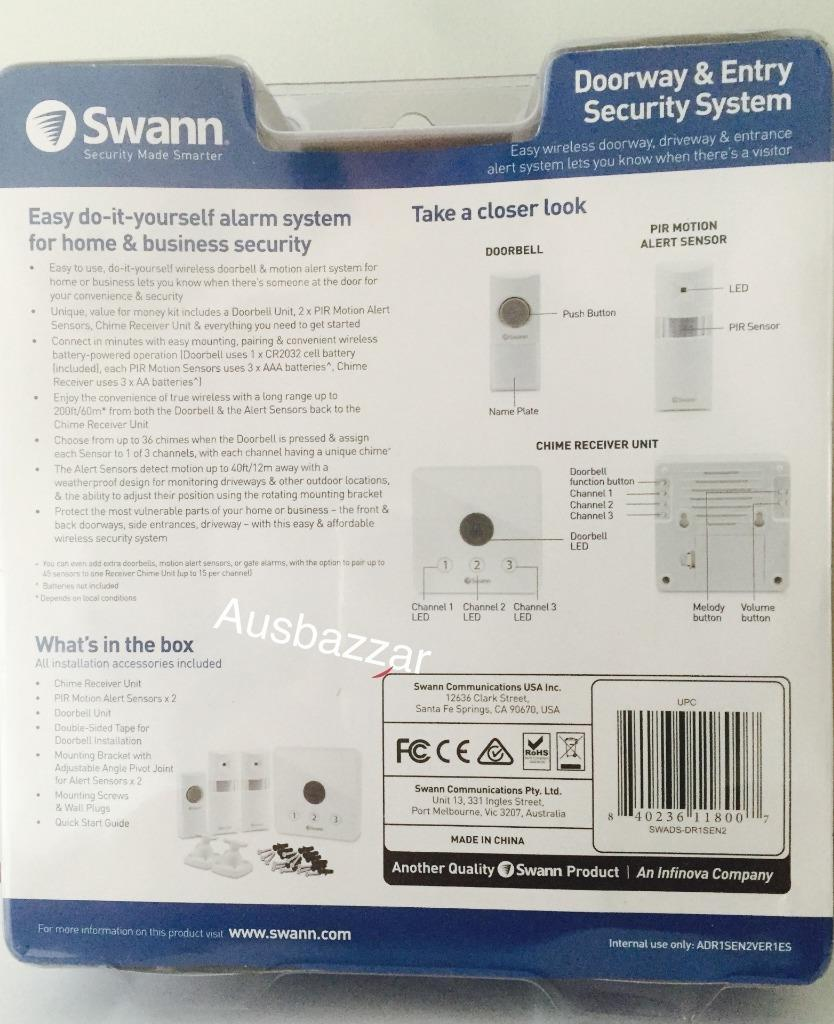 Brand New Swann Doorway Amp Entry Security System 60m Range