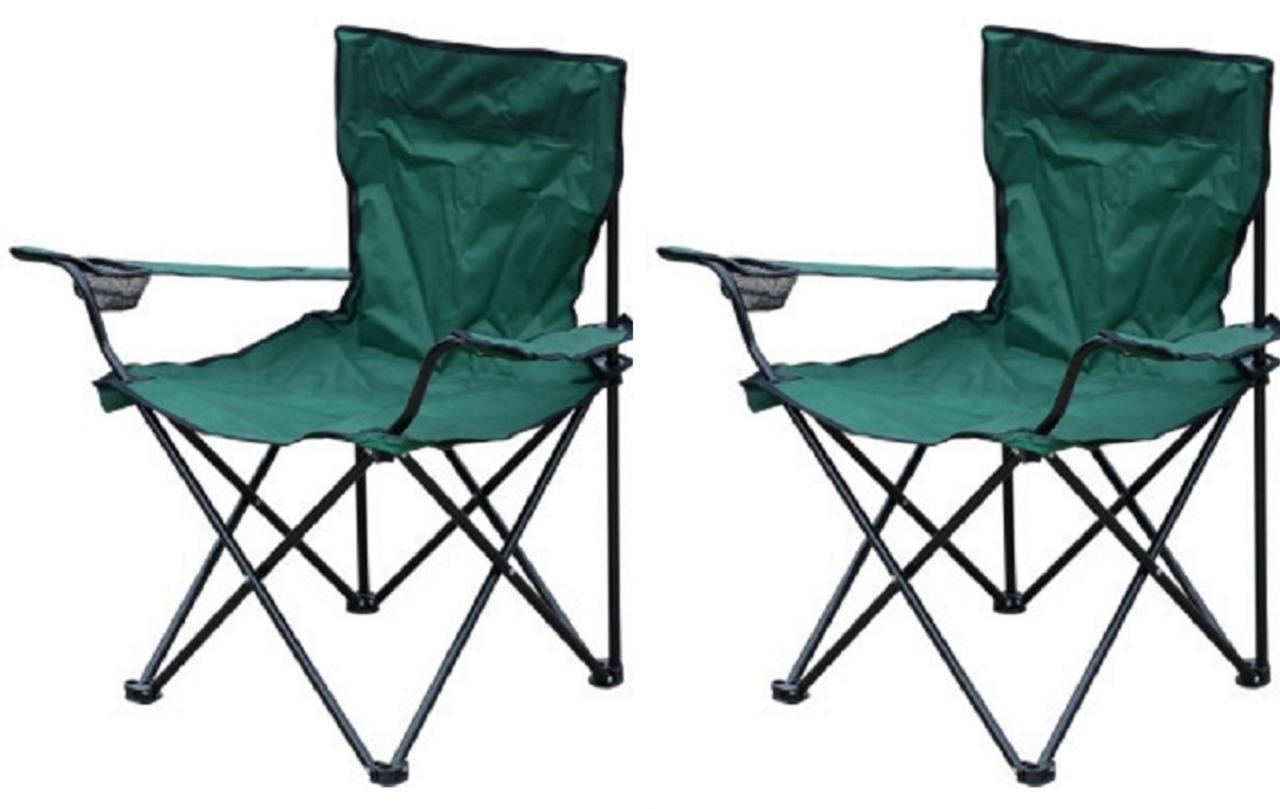 2 x new canvas cing fishing foldable collapsible