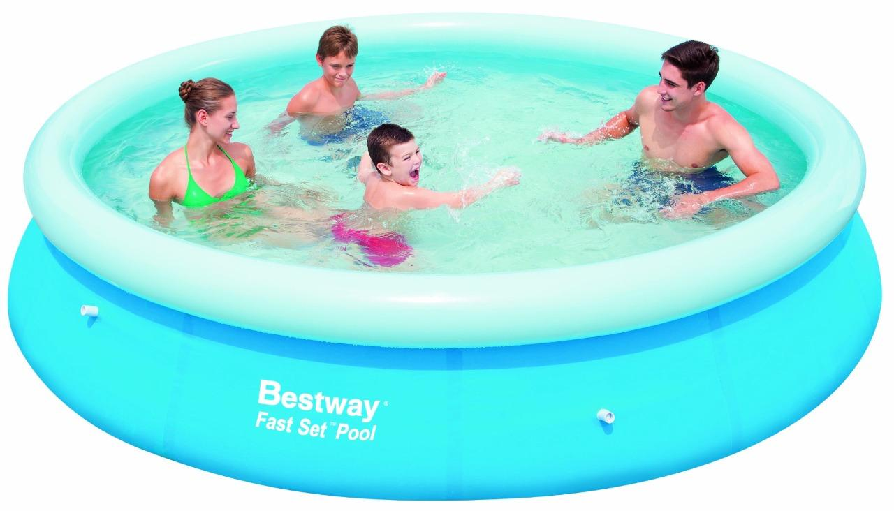Bestway 8ft 10ft 12ft fast set swimming paddling pool for Garden paddling pools