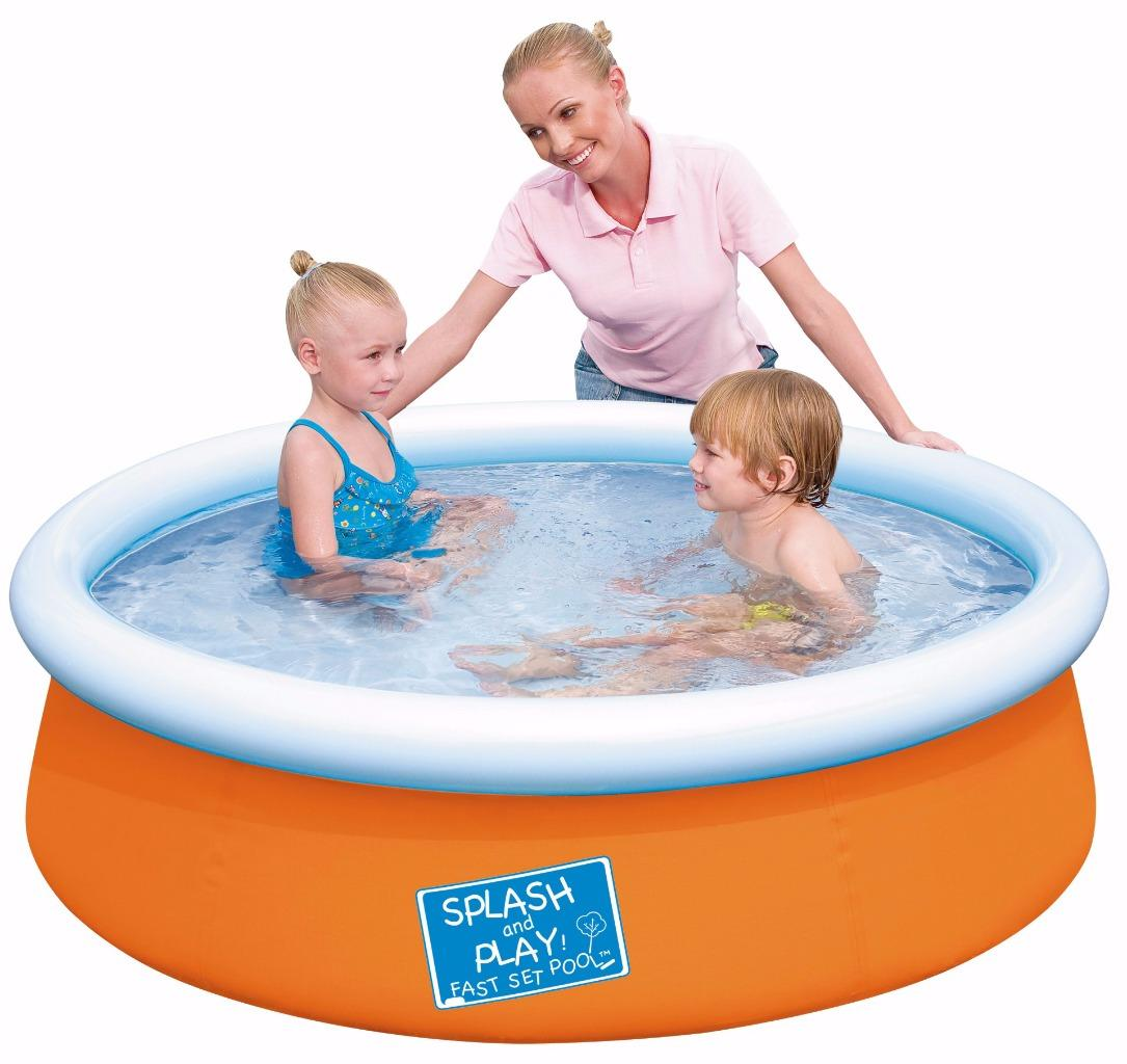 Bestway 8ft 10ft 12ft Fast Set Swimming Paddling Pool Rectangular Family Pool Ebay