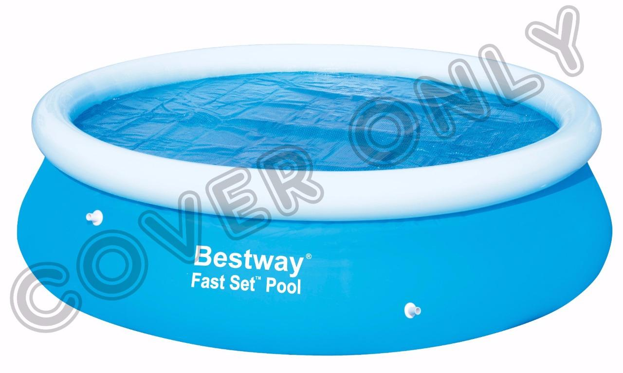 Bestway inflatable fast set swimming round rectangular for Cubre piscina bestway