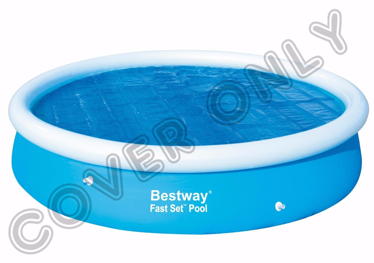 bestway inflatable fast set swimming round rectangular paddling