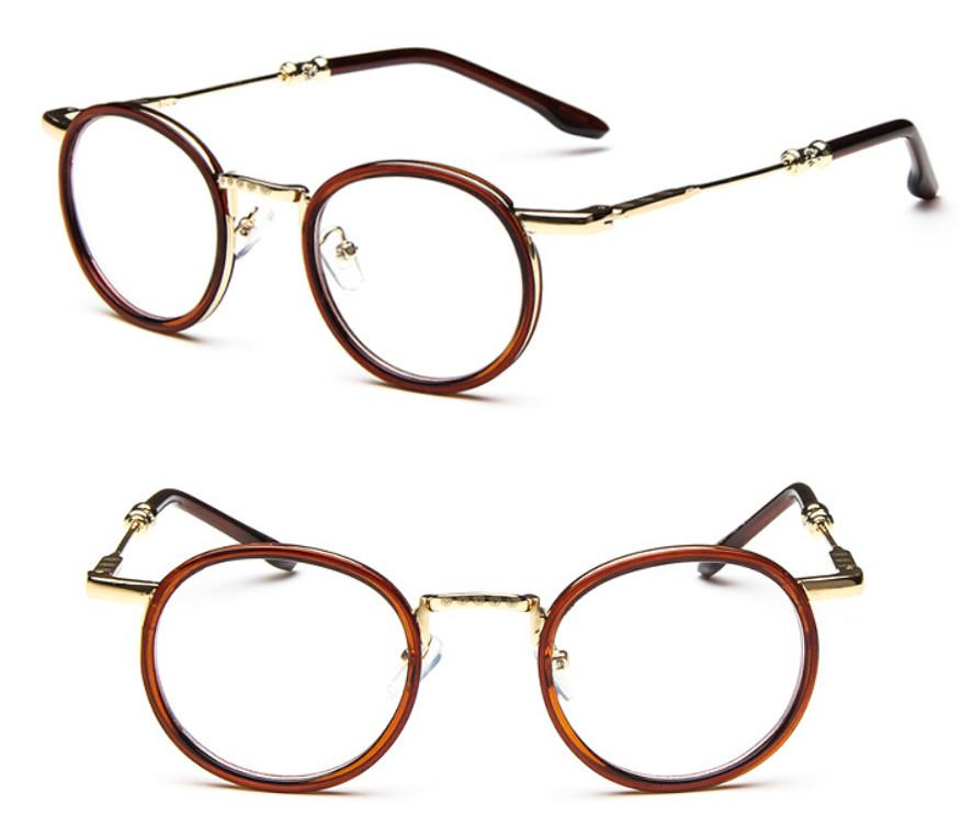 Metal Eyeglass Frame Materials : Vintage eyeglass frame Men Womens Round metal Retro ...