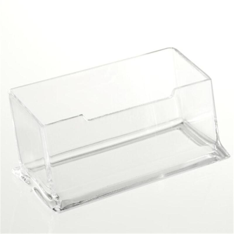Acrylic clear desktop business card holder stand display for Clear plastic business card holder