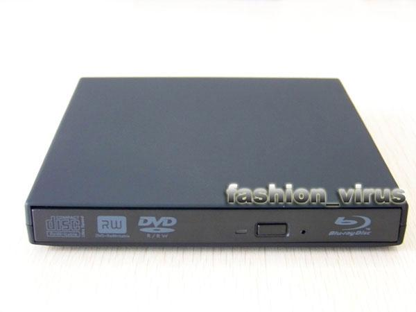 External USB Tray-Type-Loading Blu-Ray Player DVD+-RW Burner