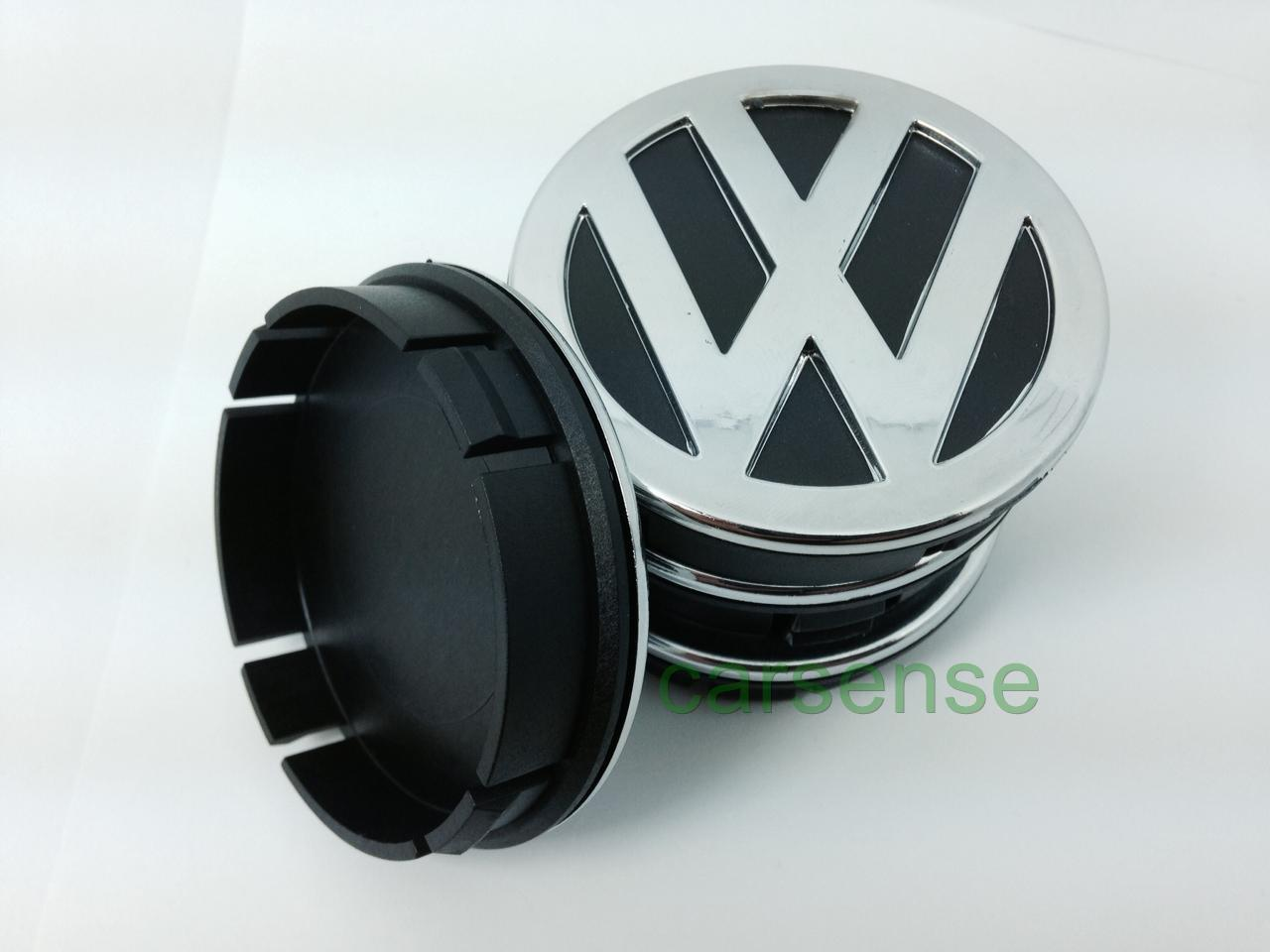 vw volkswagen chrome 60mm autocollant centre de roue cache moyeu jante alu 3d ebay. Black Bedroom Furniture Sets. Home Design Ideas