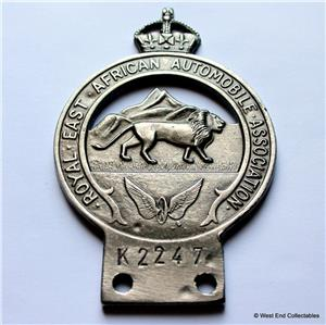 reproduction aa car badge - royal east african automobile, Invoice templates