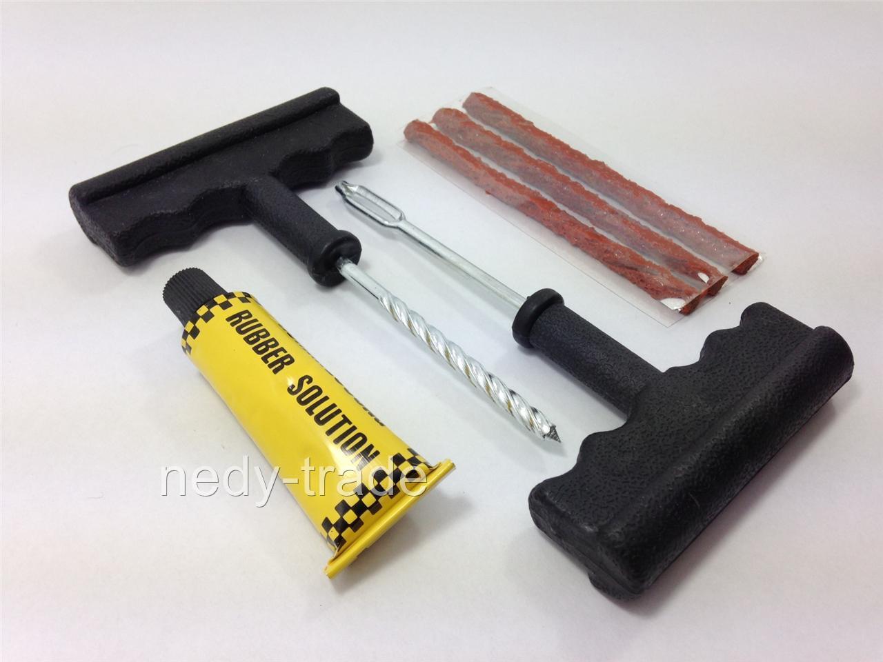 tubeless tire tyre puncture repair kit car van motorcycle. Black Bedroom Furniture Sets. Home Design Ideas