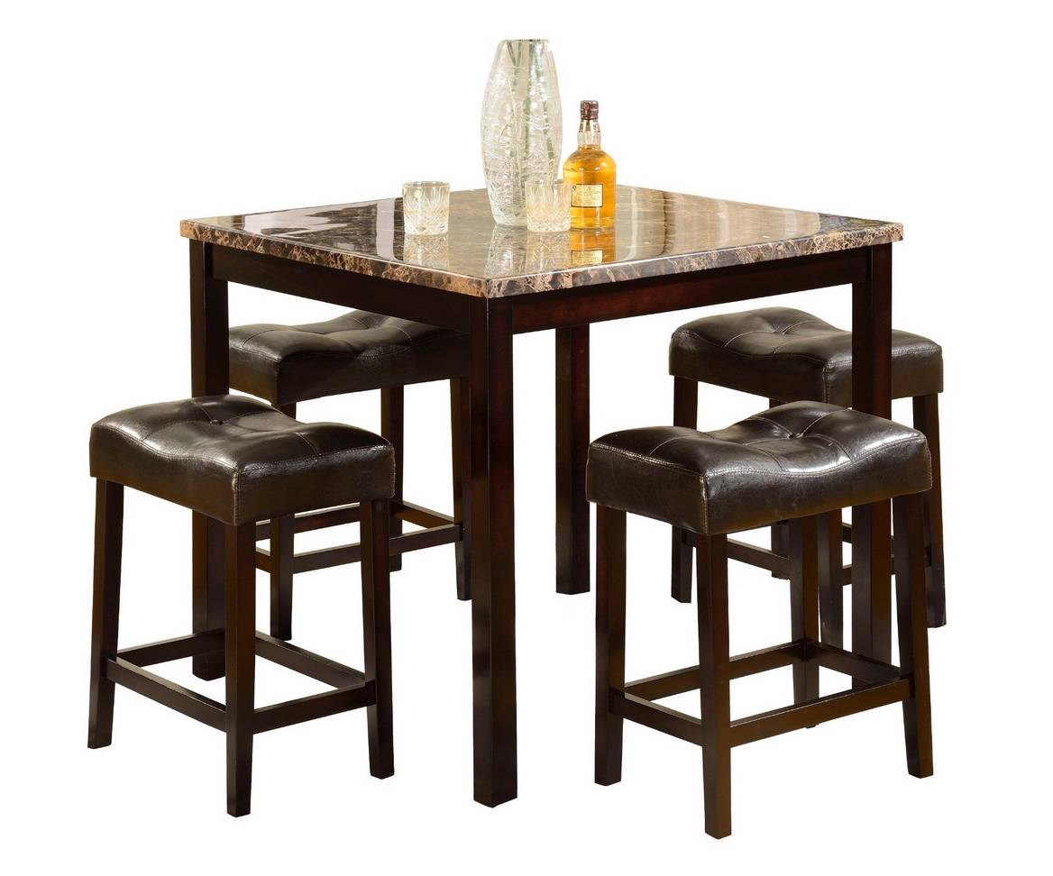 5 pcs counter height dining table set stool breakfast for Table 6 brunch