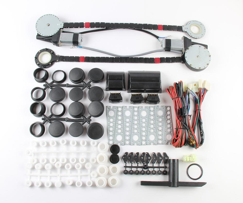 2 power roll up electric switches window conversion kit for 2 door power window switch kit