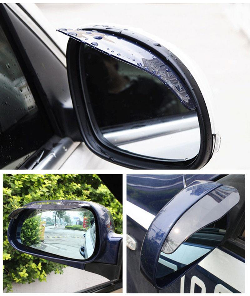 Snowmobile Side Mirrors : Pcs universal rear view black side mirrors rain snow