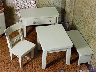 Art deco bauhaus original k chenm bel puppenstube konvolut holz 5 teile 20 jhd ebay - Bauhaus kuchenmobel ...