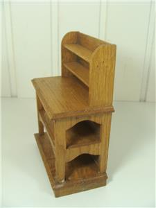 jugendstil puppenstuben buffet geschirr holz miniaturm bel puppenhaus 20 jhd ebay. Black Bedroom Furniture Sets. Home Design Ideas