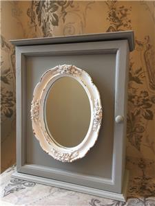 shabby chic mirror wall cabinet french vintage style bath