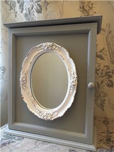 shabby chic mirror wall cabinet french vintage style bath hall storage