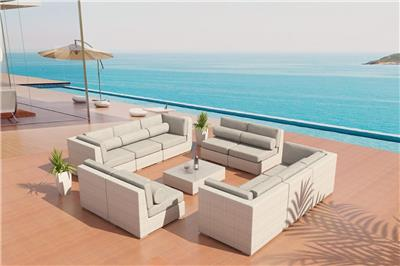 patio furniture adagio outdoor wicker sectional sofa set