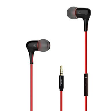 Earbuds with microphone crimson red - wired earbuds without microphone