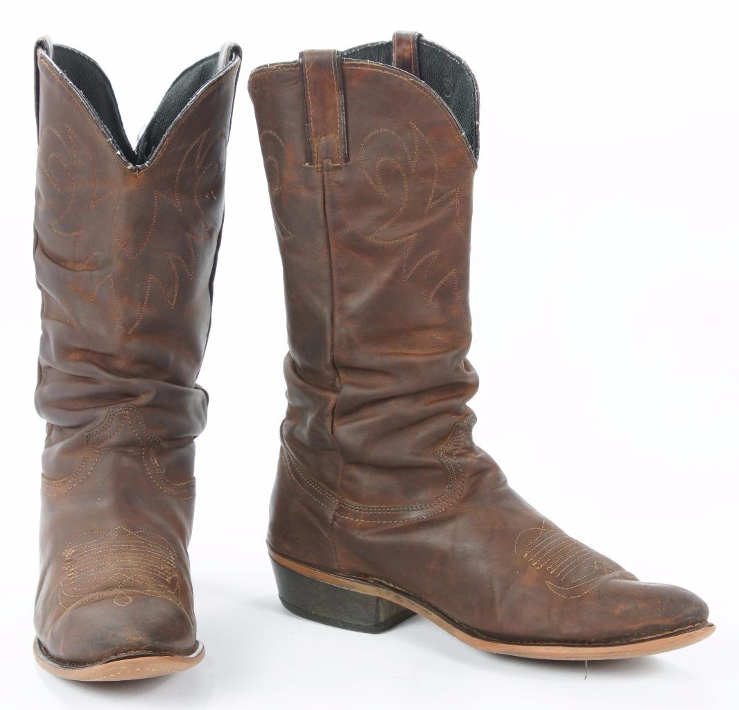 durango brown leather slouch cowboy western boots