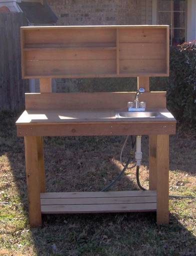 New 6ft Big All Cedar Potting Bench Gardening Benches Planting Station With Sink Ebay
