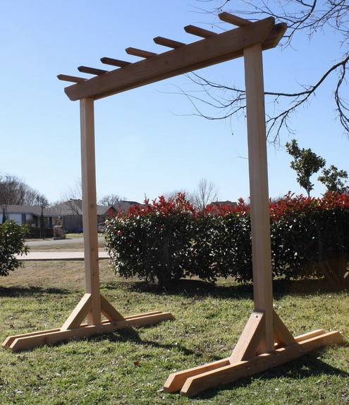 New cedar freestanding garden entry arbor pergola swing for What does pergola mean