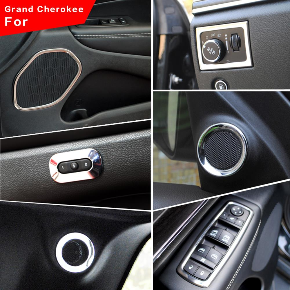 19x Interior Accessories Cover Trim Kit Whole For Jeep Grand Cherokee 2011 2015 Ebay