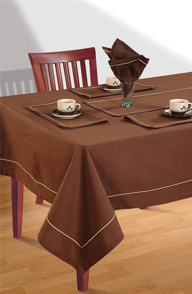 8 Seater Pure Cotton Table Linen Set 1 Table Cloth 8  : 813129022o from www.ebay.com.au size 670 x 1024 jpeg 70kB