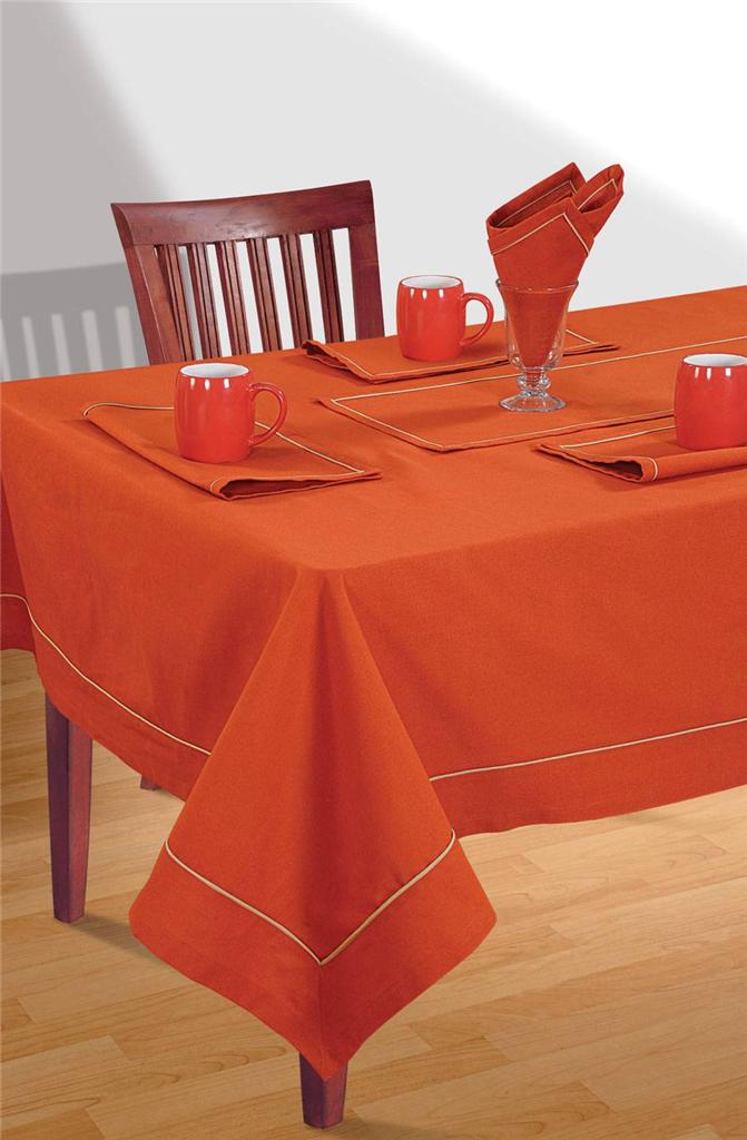 8 Seater Pure Cotton Table Linen Set 1 Table Cloth 8  : 813129024o from www.ebay.com.au size 671 x 1024 jpeg 67kB