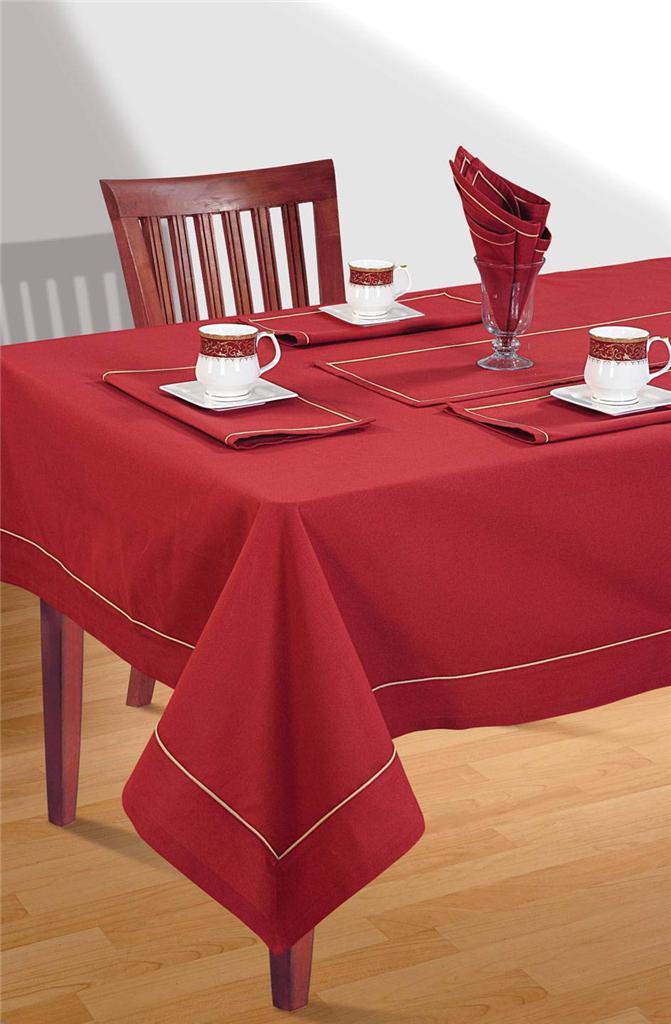 8 Seater Pure Cotton Table Linen Set 1 Table Cloth 8  : 813129025o from www.ebay.com.au size 671 x 1024 jpeg 71kB
